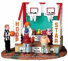 Lemax 83693 HOOP STARS Carnival Game Amusement Park Decor Retired O G Village I