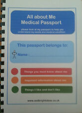 ALL ABOUT ME MEDICAL PASSPORT-a must any medical visits autism aspie & more