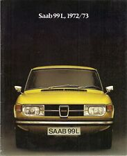 Saab 99 L & LE Saloon 1972-73 UK Market Sales Brochure
