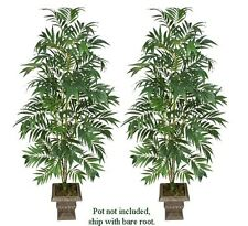 TWO 7' Bamboo Palm Artificial Trees Silk Plants 171