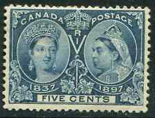Canada Scott 54 -5c Jubilee Mint No Gum Small Flaws CV $60