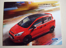 Ford b-max. zetec couleur editions. février 2016 sales brochure