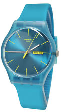 SWATCH SUOL700 Rebel Turquoise Unisex Watch NEW