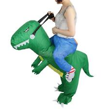 Inflatable T-Rex Dinosaur Riding Adult Halloween Costume Fancy Dress Suit