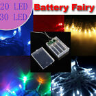 Battery Powered LED Fairy Lights 2M 20LEDs 3M 30LEDs Static ON + Flash Modes