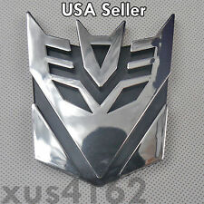3D Chrome Decepticon 3 Inch Transformers Emblem Badge Decal Car Stickers Truck