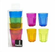 Brand New 8 x Plastic Retro Party Jelly Shot Glasses Coloured Tumblers