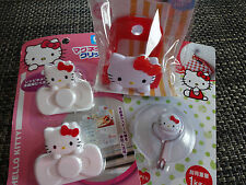 HELLO KITTY in the KITCHEN! Sponge Holder, Towel Holder & Bag Clips ~ very fun