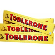 2 X 400g  LARGE BARS OF IMPORTED SWISS MILK CHOCOLATE TOBLERONES CONTAINS NUTS