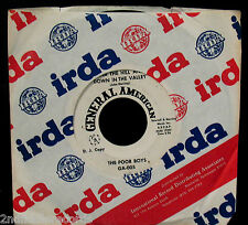 THE POOR BOYS-I Will Be Free-Rare Psych Garage DJ 45-GENERAL AMERICAN #GA-005