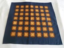 BNWOT Large Silk Blend Italian Pocket Square/Hankerchief in Navy Blue Design