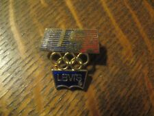 Levi's Levi Strauss 1984 Summer Olympics Los Angeles USA Olympic Rings Lapel Pin