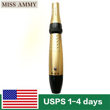 Gold Korea Electric Auto Derma Stamp Pen Micro Needle Roller Anti-Aging Wand