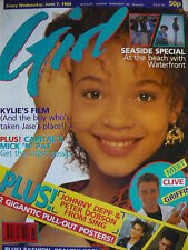 GIRL MAGAZINE 7/6/89 - KYLIE MINOGUE - HOLLY JOHNSON