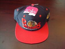 CHICAGO BLACKHAWKS TWNS SPLASH  BIG LOGO SCRIPT VINTAGE 90'S HAT CAP  SNAPBACK