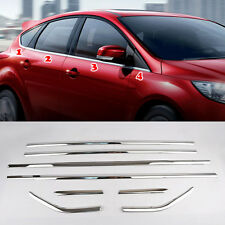 Fit For 12- Ford Focus Hatchback Chrome Door Window Line Sill Cover Trim Molding