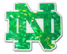 Notre Dame Fighting Irish Reflective Domed Auto Decal - NCAA Emblem Car Sticker