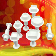 8 pcs Circle & Square Fondant Sugarcraft Cutter Plunger Cookies Decorating Tool