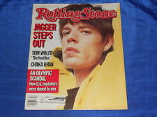 Rolling Stone (1985) #441 Jagger Steps Out! Tom Wolfe Chaka Khan & MORE VG