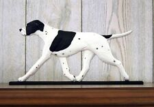 English Pointer Figurine Sign Plaque Display Wall Decoration Black/White