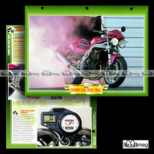 #100.11 Fiche Moto TRIUMPH 955 i SPEED TRIPLE 2002 Motorcycle Card
