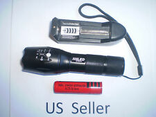 1000 LM 5 Mode Waterproof T6 torch fashlight +18650 + charger 70 US seller