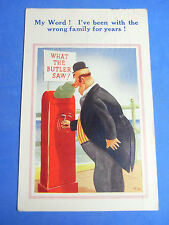 Comic Postcard 1940s WHAT THE BUTLER SAW Mutoscope - Pier Penny Arcade Theme
