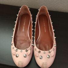 Marc by Marc Jacobs Studded Mouse Ballerina Flats, Blush Size 36.5