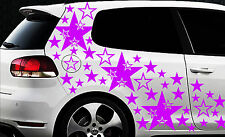 93 Sterne Star Auto Aufkleber Set Sticker Tuning Shirt Stylin WandtattooTribel ü