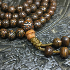 Tibet Buddhism 108 Old Phoenix eyes Bodhi seeds Mala Necklace