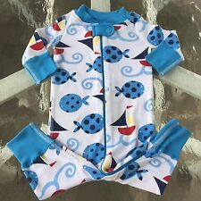 HANNA ANDERSSON  ADORABLE Organic Cotton Baby BOY  Pajamas, Size 50, 0-6 months!