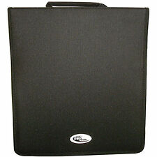 1 x NEO media capacità 240 CD DVD RACCOGLITORE AD ANELLI WALLET NYLON Storage CARRY CASE