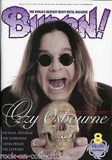 Burrn! Heavy Metal Magazine August 2011 Japan Ozzy Osbourne Def Leppard