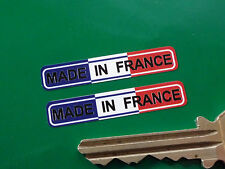 "MADE IN FRANCE Tricolore Bike STICKERS 1.5"" Pair Motorcycle Velosolex Peugeot"