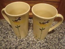 2 VINTAGE MICKEY MOUSE LATTE MUG SET EARTH DAY MUGS  IS APRIL 22  DISNEY STORE