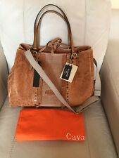 Cavalcanti  Made In Italy Brown Leather Satchel Shoulder Bag Crossbody  NWT