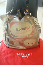 SUPERBE SAC BARBARA RIHL ORIGINAL GRAND MODEL EN CUIR BRONZE