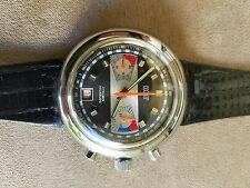 NR Late 60's Valjoux 7734 Swiss Chronograph watch date NOS must see!