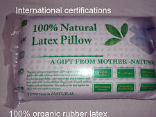 100% natural latex pillow 100% cotton stitched inn/cover  60*40*12.5 1.4-1.5 kg