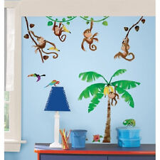 MONKEY wall stickers 41 big decals room decals banana tree vines swinging