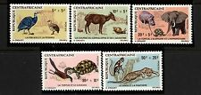 Central African Republic Scott B3-7 Animals,Birds Mint NH in Mounts