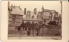 CDV photo Historische Ansicht Hotel de Cluny - Paris 1870er