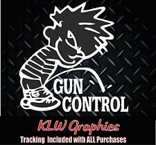 Piss on Gun Control** vinyl decal sticker Car Truck diesel hunter funny family
