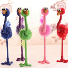 1Pc Ostrich Ballpoint Pen Novelty Toys Stationery Supplies (Random Color)