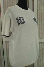 New York Cosmos NASL Authentic Apparel Soccer Jersey 10 Pele Football Shirt M