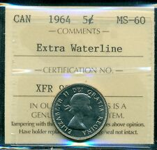 1964 XWL Canada Nickel Five Cent, ICCS Certified MS-60