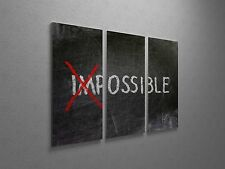 "Possible - Inspirational Modern Pop Art Canvas Triptych Print 48""x30"""