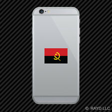 Round Angolan Flag Cell Phone Sticker Mobile Angola AGO AO