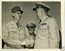 Generals Charles DeGaulle and George Marshall vintage press photo 1944