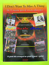SPARTITO AEROSMITH I don't want to miss QUEEN DOORS LED ZEPPELIN cd mc dvd lp(*)